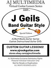 Custom Guitar Lessons, Learn guitar of J Geils band!