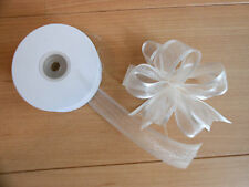 Double Sided Organza/Chiffon Ribbon with Satin Edge  10/15/25/38mm Free Post