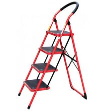 4 Level Step Stool Ladder Non Slip Safety Tread Folding Home Industrial Use