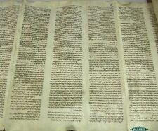 Rare & Important Big Complete Torah Scroll On Parchment Germany Ca 1600 Judaica