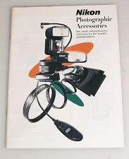 NIKON PHOTOGRAPHIC ACCESSORIES BOOKLET