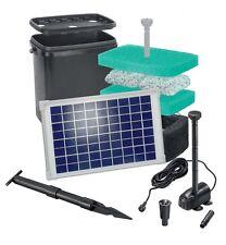 20 W Solar Filter Teichpumpe Bachlauf Pumpe Tauchpumpe Filtermatten Pumpenset **