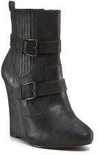 $295 JOIE LOVE ME TWO TIMES LEATHER ANTHROPOLOGIE WEDGE MARANT SHOES BOOTS 38