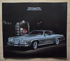 PONTIAC GRAND PRIX orig 1975 USA Mkt Large Format Sales Brochure