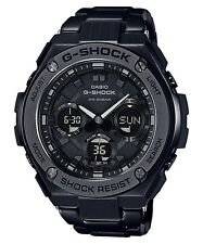 New Casio G-Shock G-Steel Tough Solar Black PVD Steel Men's Watch GST-S110BD-1B