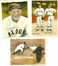 1936 R312 St. Louis Browns Lot of (3): ROGERS HORNSBY HOF ++  4 x 5-3/8