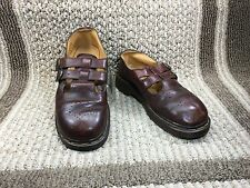 DR. MARTENS DOC VINTAGE BROWN LEATHER MARY JANE TWO STRAPS SZ 5 MADE IN ENGLAND