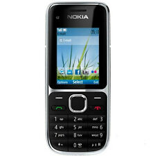 Brand Original Nokia C Series C2-01 Black (Unlocked) Cellular Phone,3.2MP,Bar