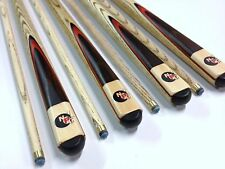 Full Length Ash WOODEN POOL SNOOKER BILLIARD CUE SET 4x Cues Christmas Gift
