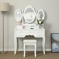 Guidecraft Classic White Vanity With Stool And Mirror G85710 Ebay