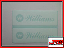 2 x Williams Vinyl pinball Stickers