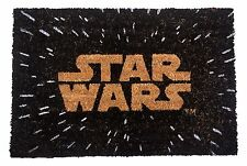 STAR WARS LOGO WELCOME MAT OFFICIAL DOORMAT 60 X 40 CM COIR PVC BACK
