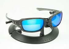 OAKLEY FIVES SQUARED GREY SMOKE FRAME / REVANT ICE BLUE POLARIZED CUSTOM LENSES