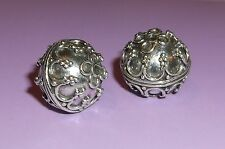 BALI .925 STERLING SILVER 11mm ROUND ORNATE FOCAL BEAD #1132 - (1)