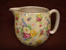 vtg Ceramic Pitcher Rose Time Chintz Shabby Style Lord Nelson Ware England