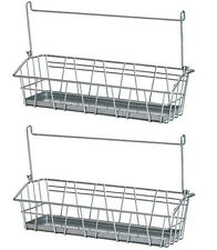 IKEA 2 wire basket steel spice jar holder organizer storage rack kitchen BYGEL