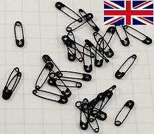 Small Tiny Metal Mini Safety Pins Gold Silver Black 20mm 2cm