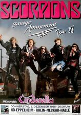 SCORPIONS - 1988 - Konzertplakat - Cinderella - Savage Amusement - Tour - HD