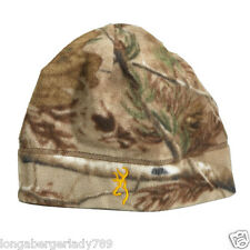 GOLD LOGO BROWNING BEANIE JUNEAU REAL TREE CAMO KNIT HAT BEANY WINTER HUNTING