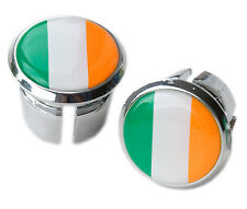 Irish Ireland Flag Bicycle Handlebar Chrome Plastic Bar End Plugs, Caps L'Eroica