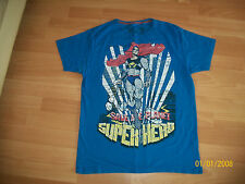 Mens Blue Super Hero T-Shirt - Size Small