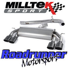 "Milltek SSXVW306 Golf R MK7 Exhaust 3"" Race System Cat Back Non Resonated Black"