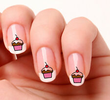 20 Nail Art Stickers Transfers Decals #43 - Cup Cake Just peel & stick