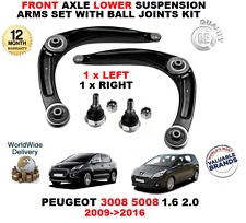 FOR PEUGEOT 3008 5008 1.6 2.0 2009> FRONT LOWER SUSPENSION ARMS + BALL JOINT KIT