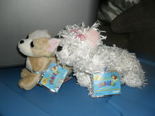 Webkinz White Terrier HM106 and Lil Kinz Chihuahua HS104 with codes