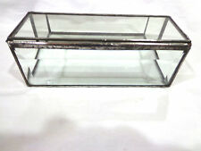 vintage hand made glass,silver Jewelry/display box