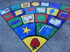 8'x11' Triangle  KIDS Reading Educational Rug For Schools and DAY CARE