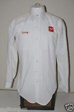 "WOW  Vintage Long Sleeve 7up Patch Employee ""DOUG"" Shirt Medium 15 1/2 Neck"