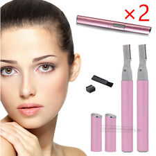 2X Electric Lady Shaver Bikini Legs Eyebrow Trimmer Shaper Hair Remover Gift