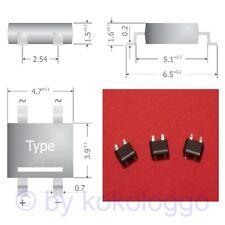 S341 - 10 Stück SMD Brückengleichrichter Gleichrichter 80V 0,8A Mini-DIL Gehäuse
