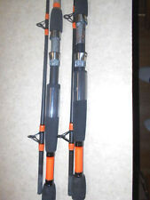 [ 2 ] NEW ZEBCO CAMO 8 FT MED./ HVY 2 PC. LINE WT. 15 - 30 LBS. SPINNING RODS