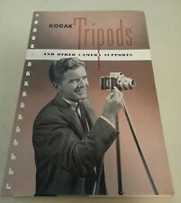 Vintage Kodak Camera Sales Brochure Catalog w Price List - Tripods - 1948