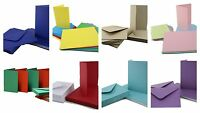 Craft UK C6 A6 Blank Coloured Cards and Envelopes