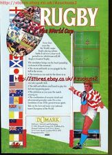 "Rugby The World Cup ""Domark"" 1991 Magazine Advert #5577"