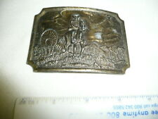 Vintage Pioneers Wagon Train Cowboy Western Belt Buckle--#DP