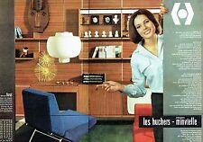 PUBLICITE ADVERTISING 037  1963   éléments Les Huchers -Minvielle (2p) meubles