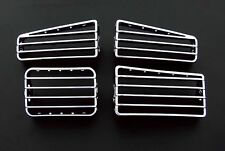 VW Golf MK3 3 MK4 4 RHD Caddy CHROME DASH BOARD AIR FLOW RISCALDATORE sfiati Grates