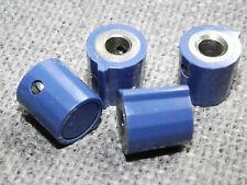 2 Stück Drehknopf für 6 mm Achse, blau, mit Zeiger