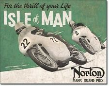 Norton - Isle of Man Metal Tin Sign Wall Art