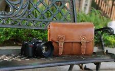 Vintage PU Leather camera bag Messenger bag for DSLR EVIL Camera and lens 03-049