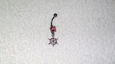 Pink Boat Nautical Steering Wheel Belly Navel Ring Body Jewelry Piercing