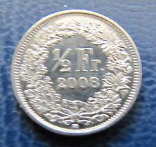 """Münze 1/2 Schweizer Franken 2008 """"B"""" aus Umlauf gültiges Zahlungsmittel"""