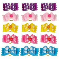 20pcs Flower Pet Small Dogs hair Bows Rubber Band Grooming Costume Accessories