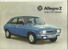 BRITISH LEYLAND AUSTIN MORRIS ALLEGRO 2 1500 AND 1750 SALES BROCHURE DEC. 1975