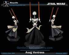 STAR WARS GENTLE Giant ASAJJ VENTRESS MAQUETTE STATUE The CLONE Sideshow