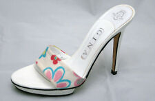 Fantastic Gina floral print mule with white platform UK 4.5  BNWT, RRP £325 3455